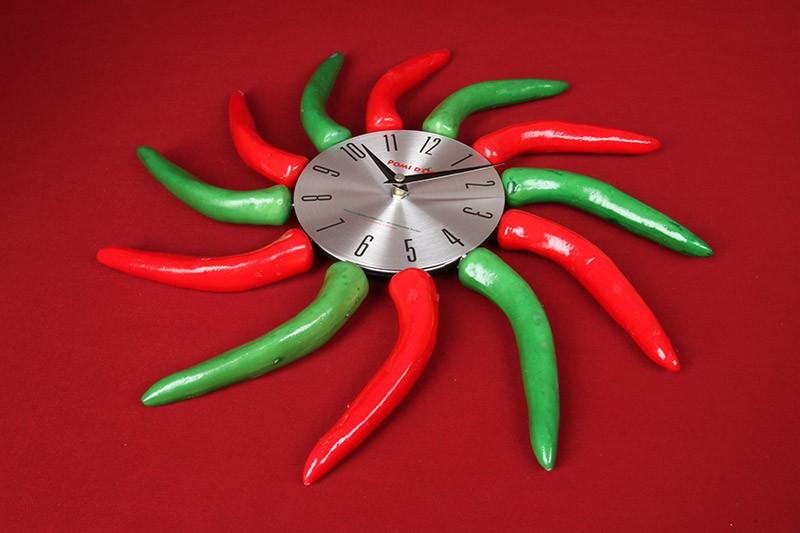 Часы-перцы на кухню