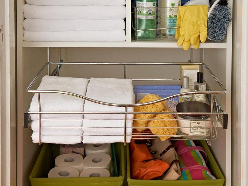 Дополнительные полки из металла в шкафчик