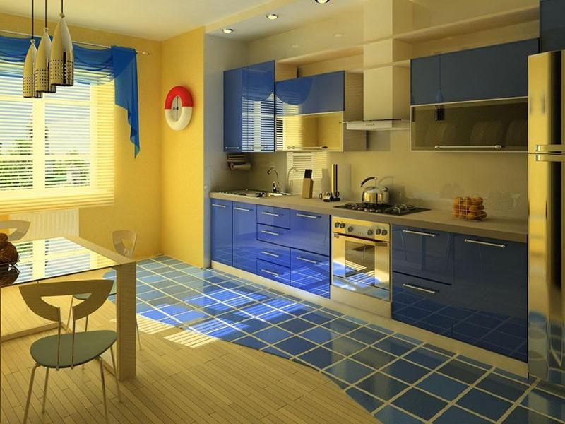 Кухня с окнами на юг