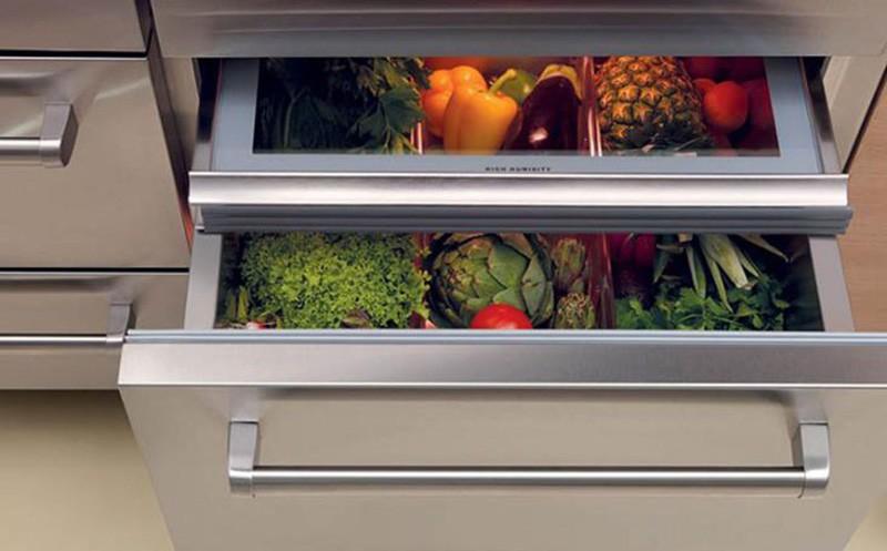 Встроенный холодильник для хранения овощей
