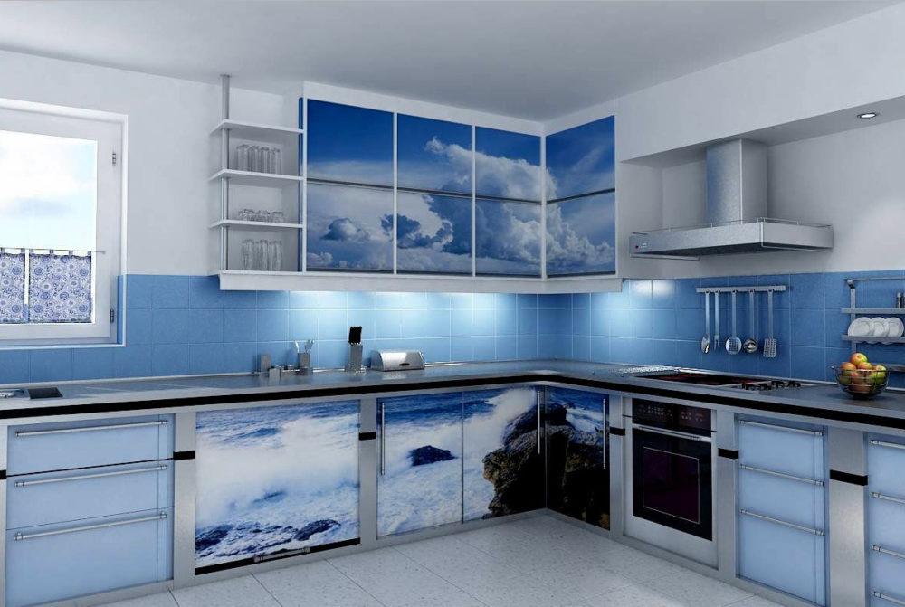 Морская Тематика В Интерьере — Стильное Оформление Квартиры (+40 Фото) regarding 83 Захватывающе Кухня В Морском Стиле