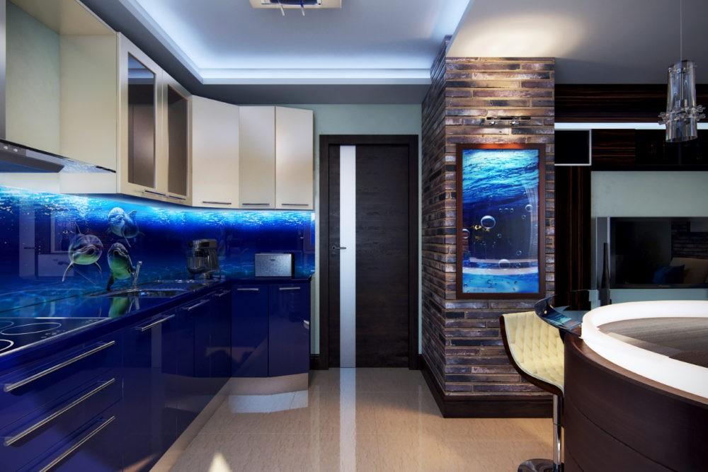 Кухня В Морском Стиле: Фото Новинок Дизайна throughout 83 Захватывающе Кухня В Морском Стиле
