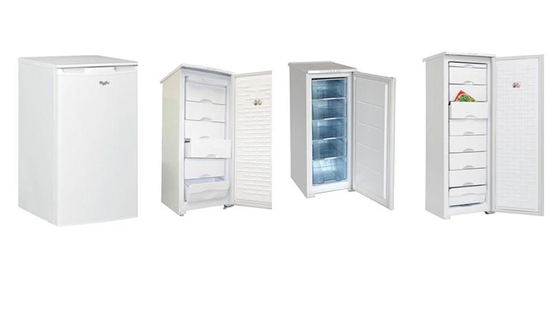 Разные по габаритам морозильные камеры