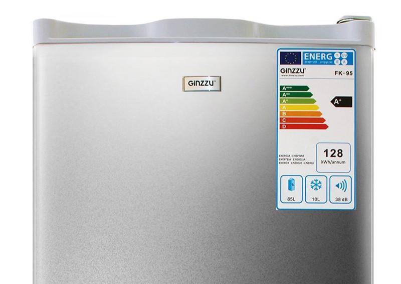 Наклейка на холодильнике со шкалой энергоэффективности