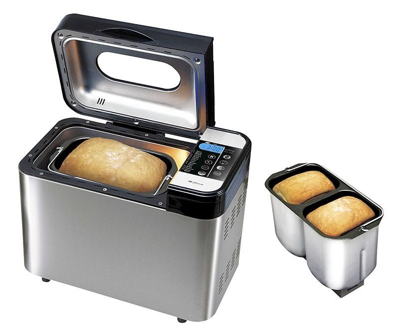 Двойное стальное ведро для выпечки двух буханок хлеба