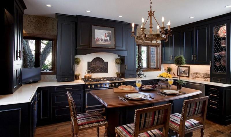 Бронзовые детали кухонного интерьера