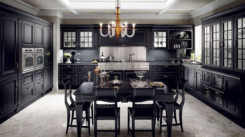 Роскошный и изысканный классический стиль на кухне
