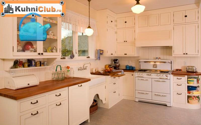 Винтажный-стиль-кухни-из-беленого-дерева