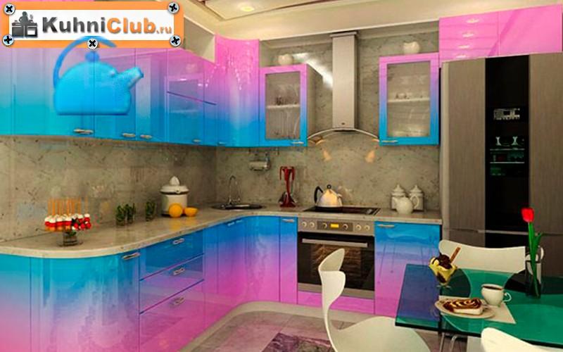 Сочетание-розового-цвета-в-кухне