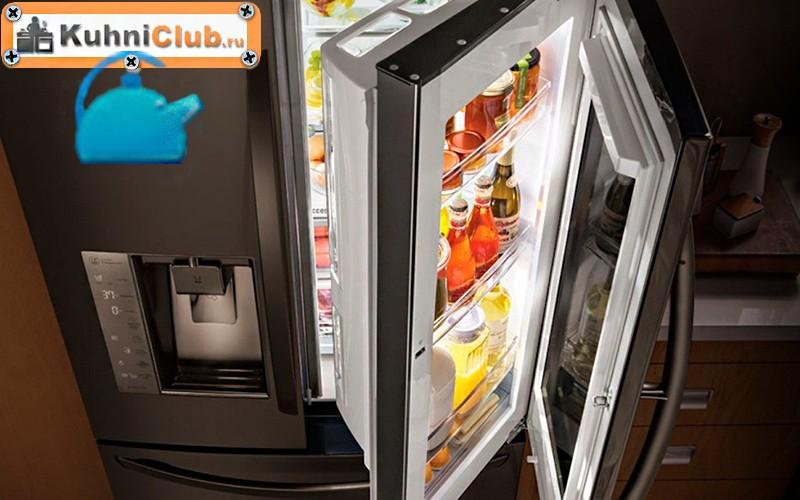 Холодильник-со-стеклянной-дверцей
