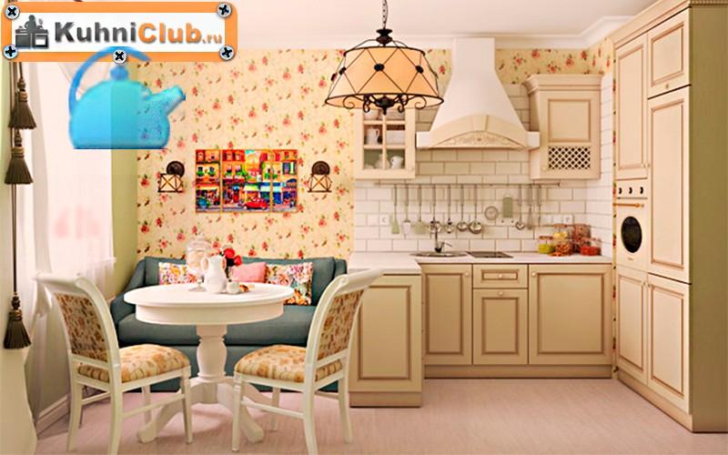 Диван в стиле прованс в кухне