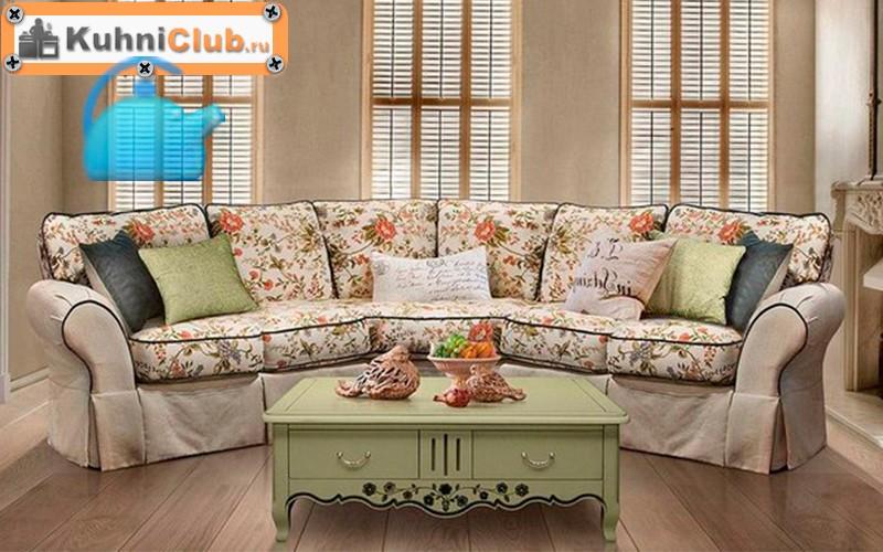 Эркерный диван в стиле прованс