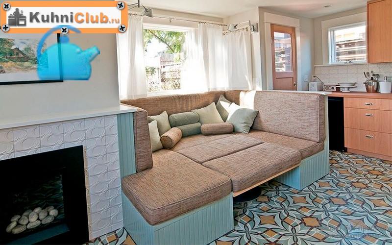 Раздвижной диван в стиле прованс