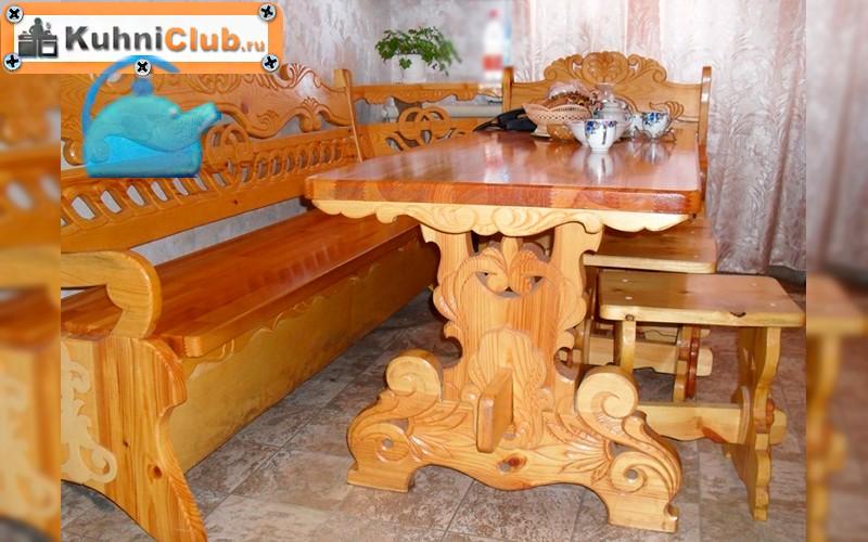 Скамейка-деревянная-резная