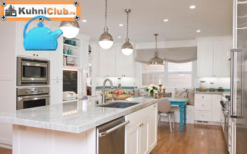 Люстра-и-точечные-светильники-на-кухне-2