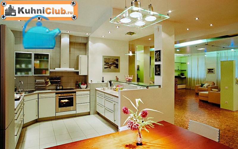 Освещение-кухни-с-низким-потолком