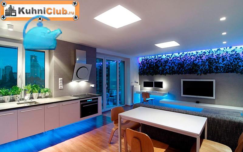 Светодиодное-освещение-на-кухне-с-низким-потолком-3