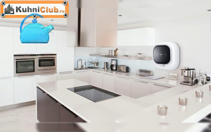 Стиральная-машина-на-стене-кухни