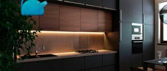 Трехуровневая-кухня-под-потолок