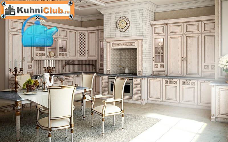 Трехуровневая-кухня-в-классическом-стиле