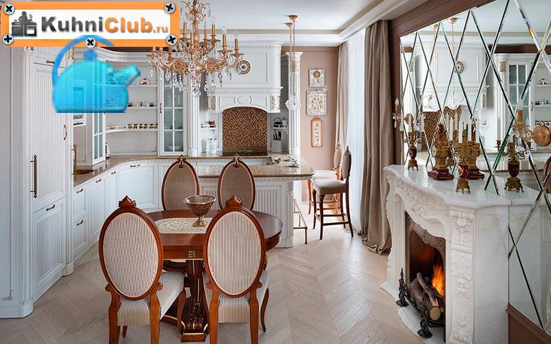 Кухня-классического-стиля-с-зеркалом