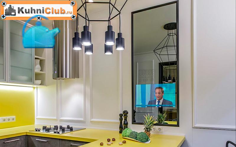 Зеркальный-телевизор-на-кухне