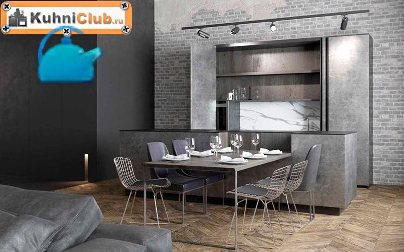 Фасад-под-бетон-в-кухне-стиля-лофт