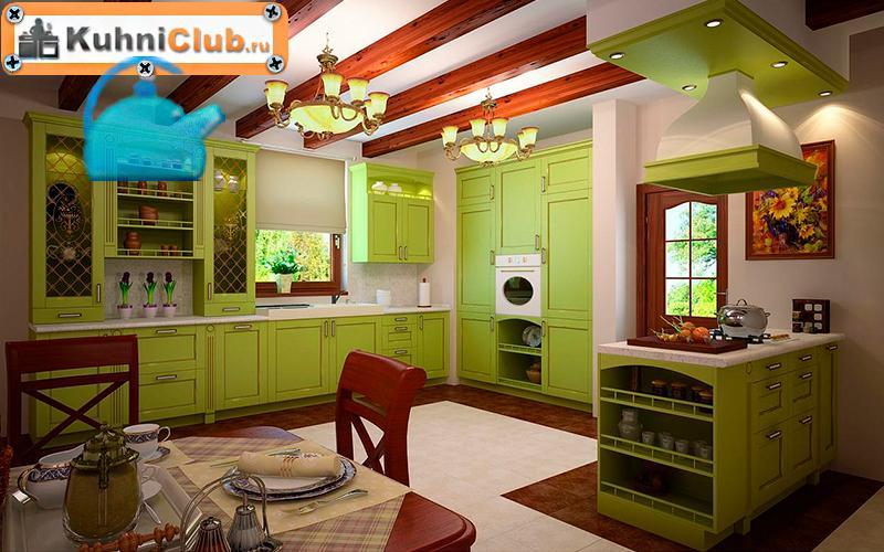 Фисташковая-кухня-в-эко-стиле