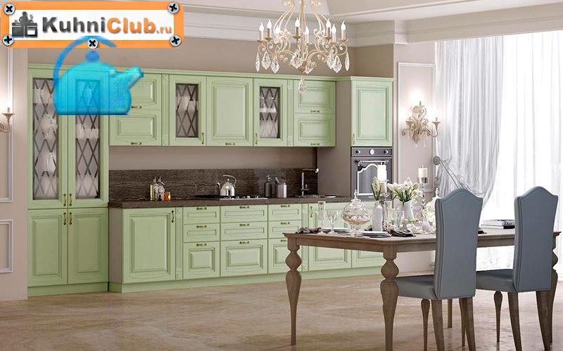 Фисташковая-кухня-в-классическом-стиле