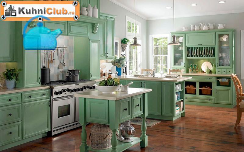 Фисташковая-кухня-в-стиле-прованс
